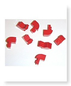 Building Accessories 1 X 1 X 1 Red Brick