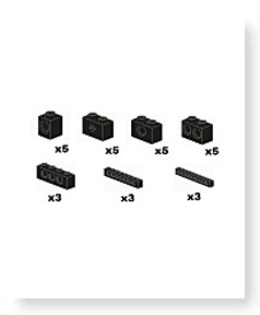 New Black Technic Brick Pack