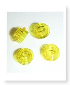 Parts 100 Round Transparent Yellow Plates